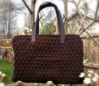 Designing Crochet: Chocolate Tote - Free Pattern for National Crochet Month!