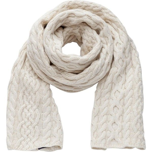 Tommy Hilfiger Farika lurex knitted scarf (690 EGP) ❤ liked on Polyvore featuring accessories, scarves, cream, scarves & wraps, long scarves, long shawl, tommy hilfiger, wrap shawl and cream shawl