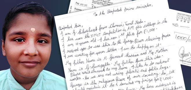 Here's Why This 10-Year-Old Wrote A Letter To The Prime Minister Of India