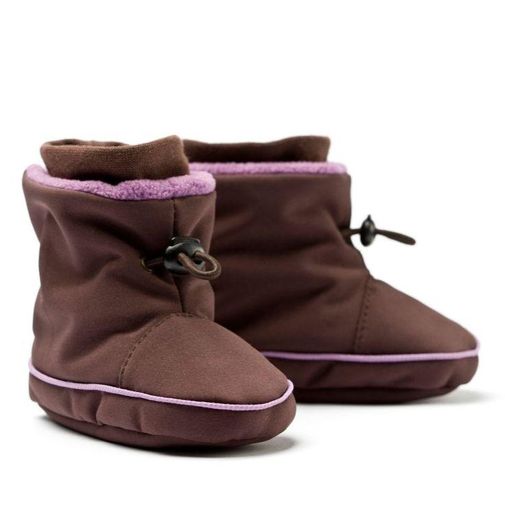 Liliputi® Babywearing Booties Brown/Purple   Liliputi baby shop  #babybooties #liliputi #babywearing