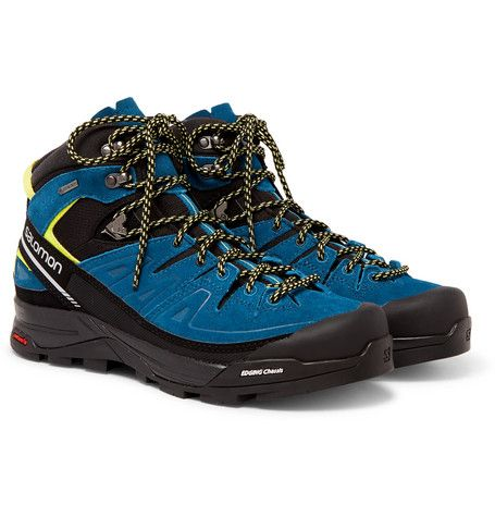 SALOMON X Alp GORE-TEX, Suede And Rubber Hiking Boots