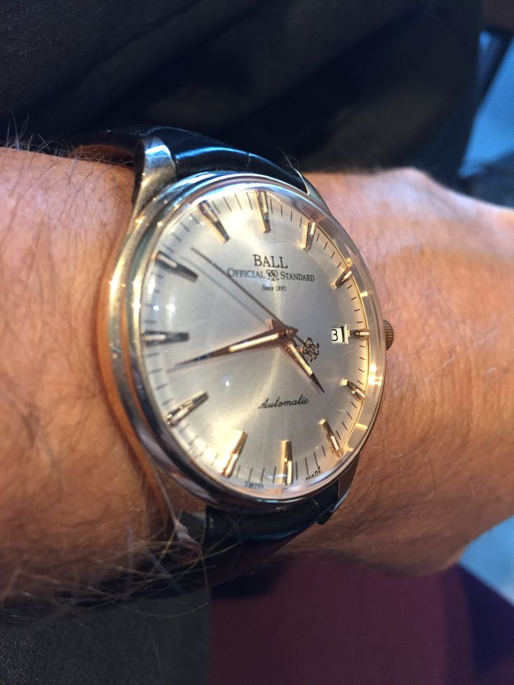 Ball trainmaster 120th anniversary solid gold automatic