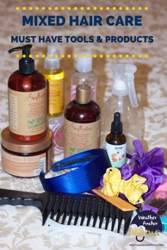 MIXED HAIR CARE MUST HAVE TOOLS AND PRODUCTS BIRACIAL HAIR