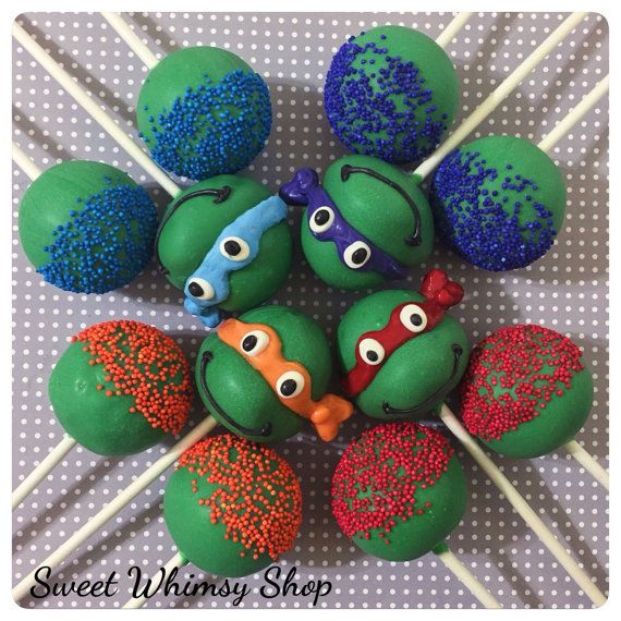 Ninja Turtle & Sprinkle Cake Pops