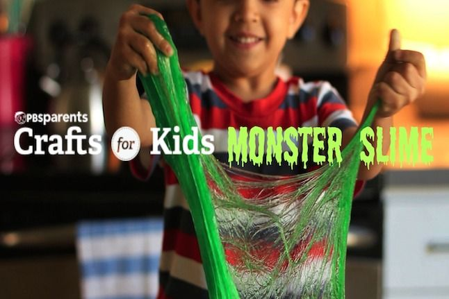 The chemical reaction between liquid starch and regular glue makes a mixture that splats, sticks, oozes, flops and stretches. Engage in some imaginary monster-play and embrace your inner scientist ...