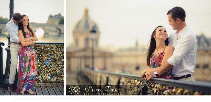 Engagement at Lovers Bridge in Paris