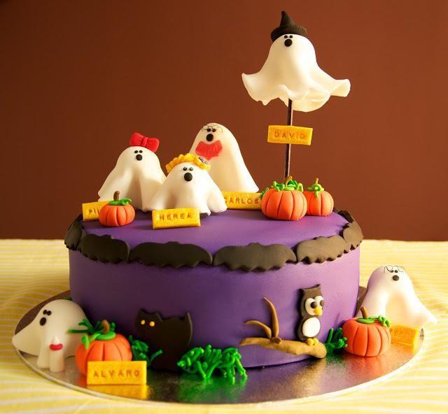 fondant halloween | Una calabaza que sabe a tarta especiada de zanahorias para Halloween