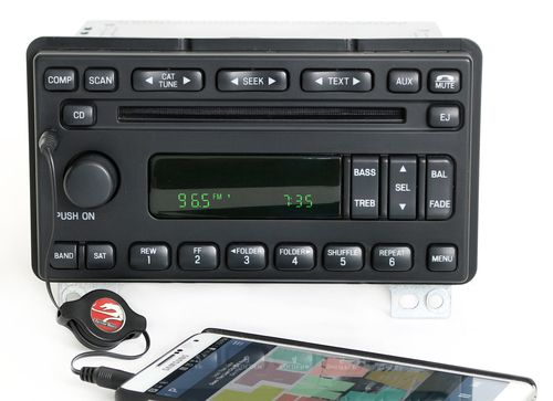 Ford Explorer 2005 Mercury Mountaineer Radio AM FM CD w Aux Input 5L2T-18C869-AC