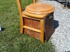 I also stained the luan panels around the composting toilet.  I'm now thinking about painting the chair since there's no golden oak colors i...