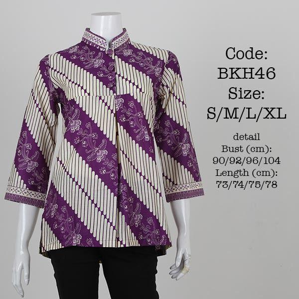 blus batik kantoran BKH46