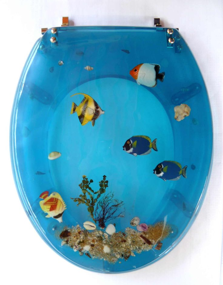 Resin Toilet Seat Fish Blue Resin Toilet Seats