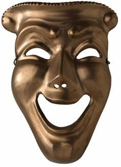 The symbol for a Greek comedy, which is what Lysistrata's genre ...