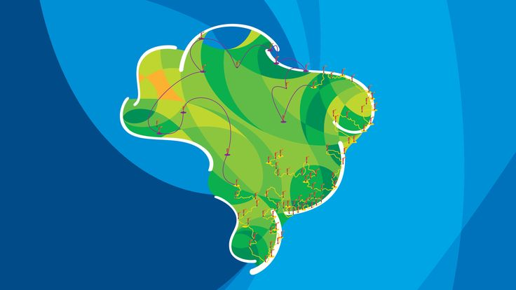 Rio 2016 torch relay map
