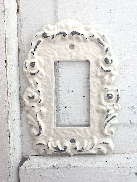 Metal Wall Decor Light Switch Cover Creamy Off White Rocker Plate Ornate New House Style 111 Apt Pinterest Covers