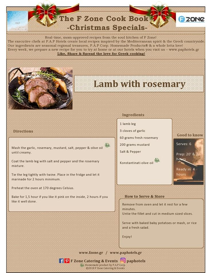🎉🥂🎆Happy New Year!🥂🎉🎆 Welcome 2018 with our incredible Rosemary Lamb, perfect for family & friends! Like & Share! http://www.fzone.gr/ #happynewyear #2018 #welcome #recipe #greek #lamb #rosemary