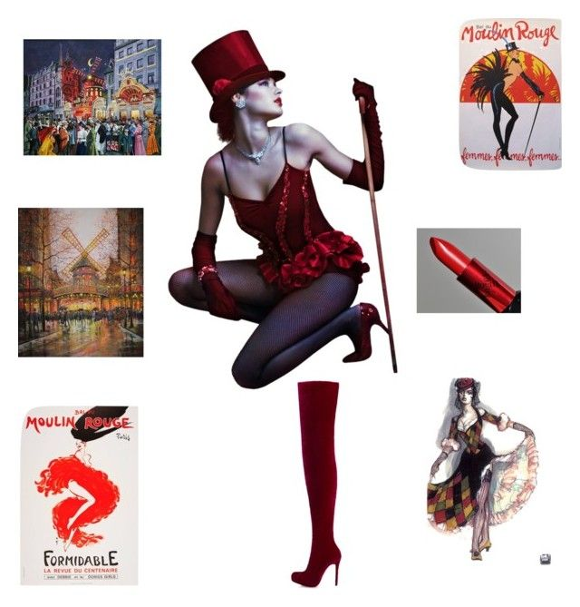 """""""Moulin Rouge"""" by andre-ea-2 ❤ liked on Polyvore featuring Christian Louboutin and MAKE UP FOR EVER"""