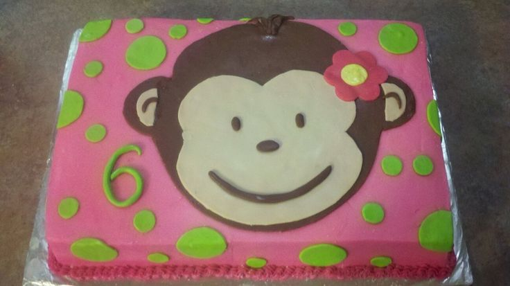 25 curated first birthday party ideas by tegdirb7 cakes for Monkey face template for cake