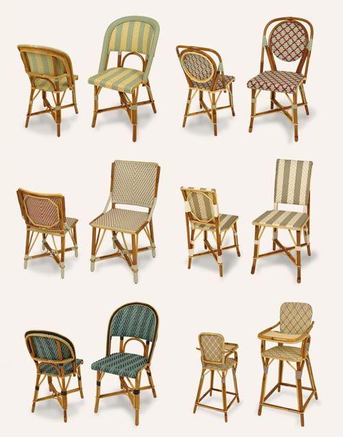 traditional Parisian cafe chairs via Design Mom