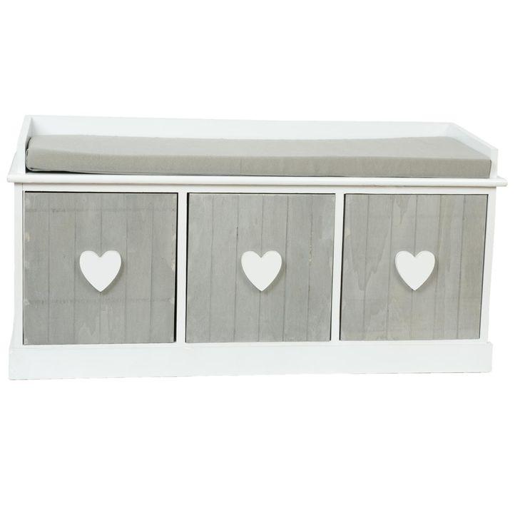 Dřevěná lavice se třemi boxy 37762 | AAAhome.cz