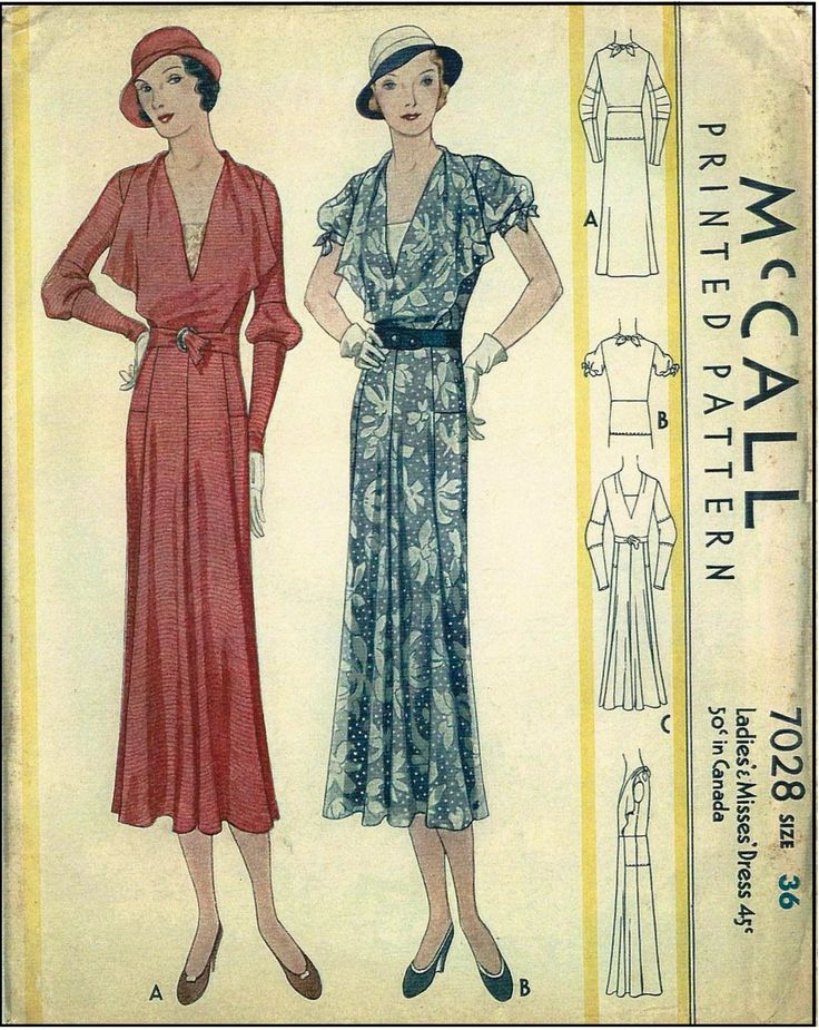 The 584 best 1930s sewing patterns (and fashion) images on Pinterest ...