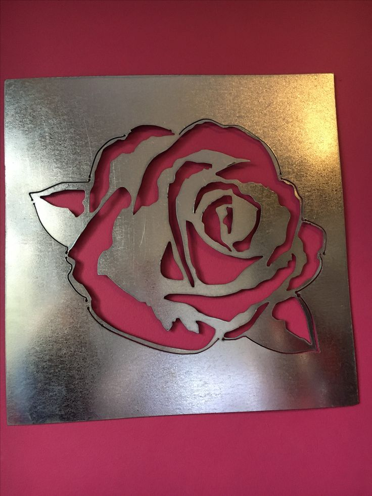 Metal rose. Made in Durban by Chanzco.