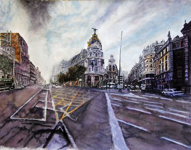 Sunday afternoon Aquarelle 61 x 38 Fabriano Artistoco 300gr, Original price: 1500 Euro, exclusive high end imprint on aquarelle paper - 150 Euro