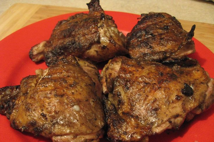 Marinated with egg flavored with poultry seasoning, then grilled to perfection. (From the upstate New York firemen.)