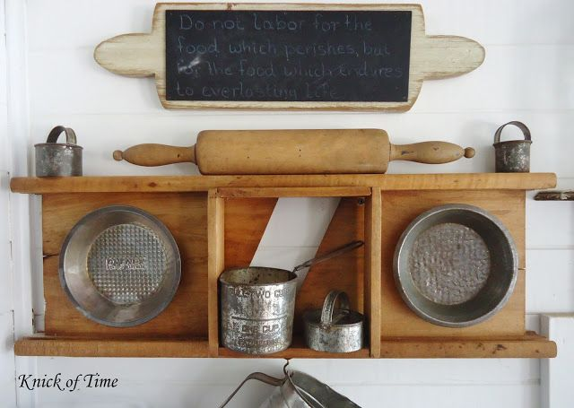Farmhouse Kitchen Remodel - A Room with a View - Knick of Time  Like the rolling pin chalk board