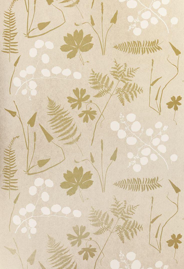 Modern interior wallpaper swatch - Wallcovering Wallpaper Modern Botanical In Parchment Schumacher Shop Wallpaperconnection Com