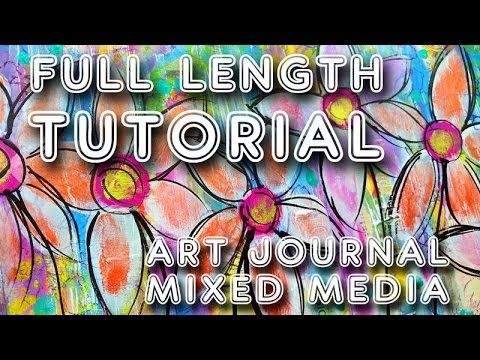 "Studio Time 23 - ""Carefree'' mixed media art journal tutorial YOU can do!"