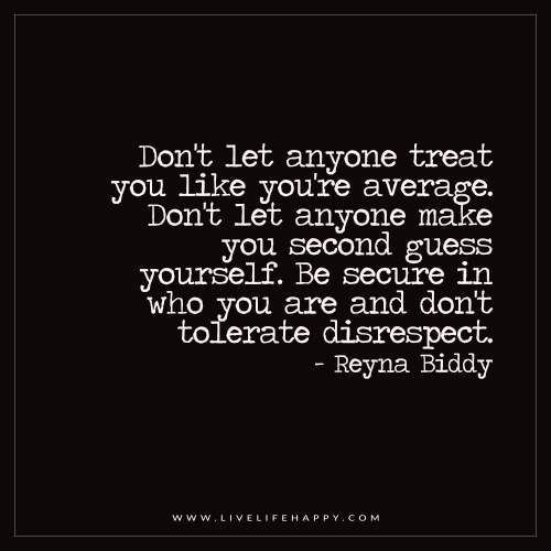 Don't Let Anyone Treat You Like Your Average