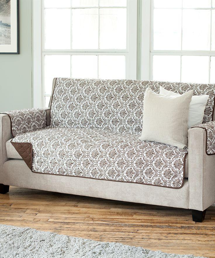 Chocolate Reversible Sofa Protector. $19.99.
