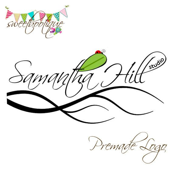 FULLY CUSTOMISABLE  Premade Logo  Samantha Hill by SweetBootique