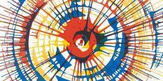 Spin Art, op de kermis verf spuiten in een centrifuge, prachtig toch ;-)