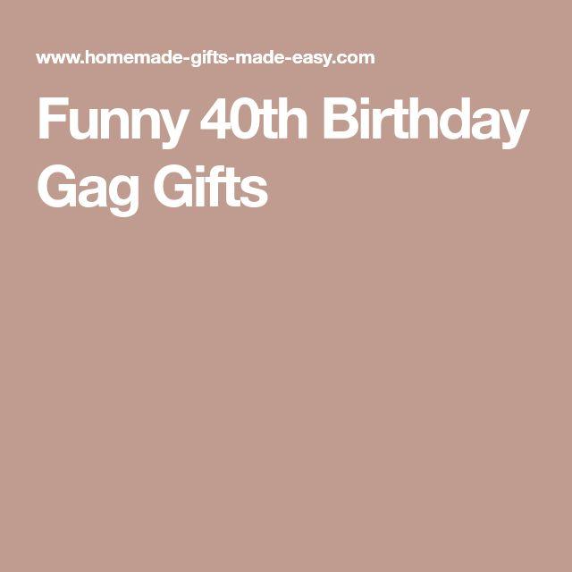 40th birthday sex gag gift