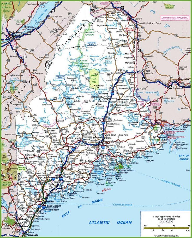 Maine road map