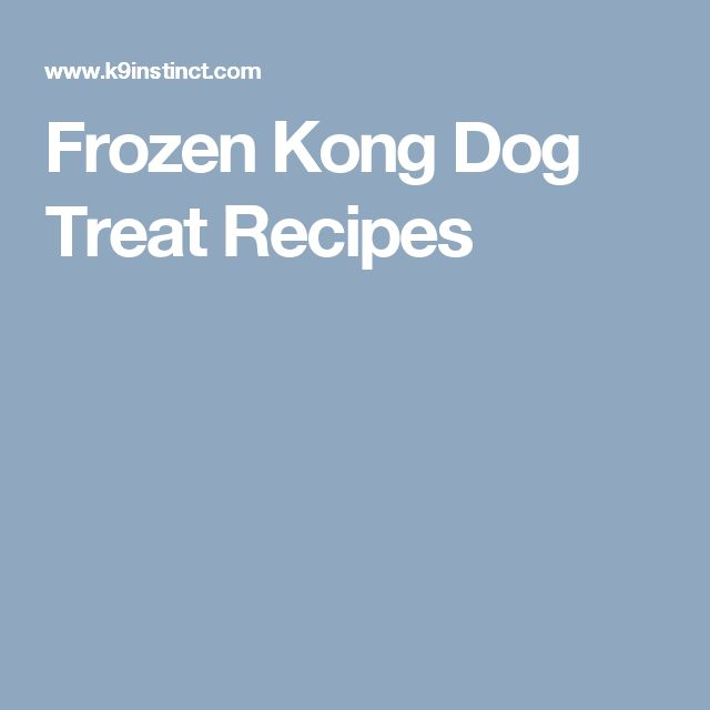 Frozen Kong Dog Treat Recipes