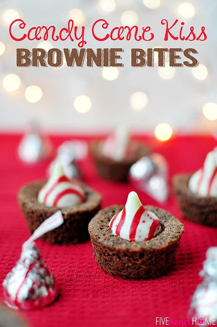 Candy Cane Kiss Brownie Bites Perfect For Your Holiday Cookie