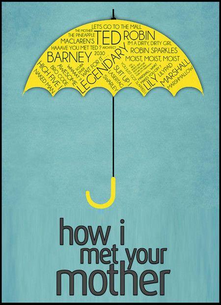 Yellow Umbrella How I Met Your Mother Poster 25+ melhores id...