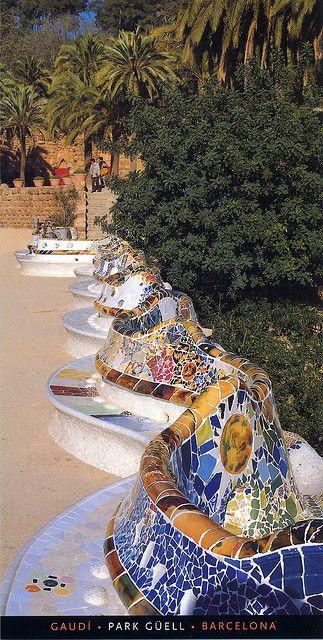 Park Güell, d'Antoni Gaudí. Barcelona (Catalonia)