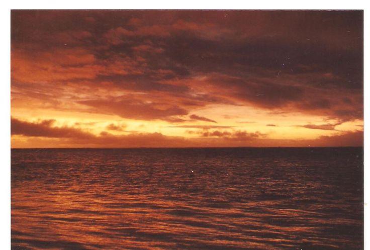 Sunset in Mauritius.