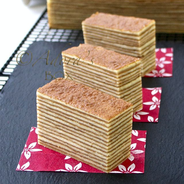 KUEH LAPIS LEGIT - Layered Indonesian Condense Milk cake