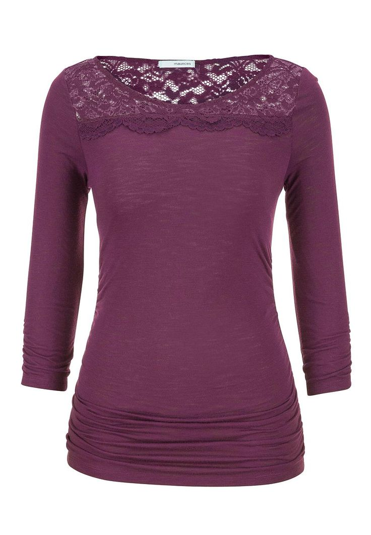 tee with lace and cinching - maurices.com