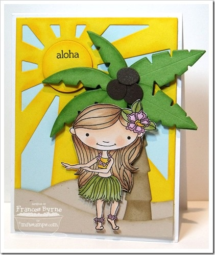 Doodle Garden Aloha; Sun Ray Die-namics; Palm Tree Die-namics; Snow Drifts Die-namics - Frances Byrne