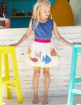 Tropical Appliqué Skirt