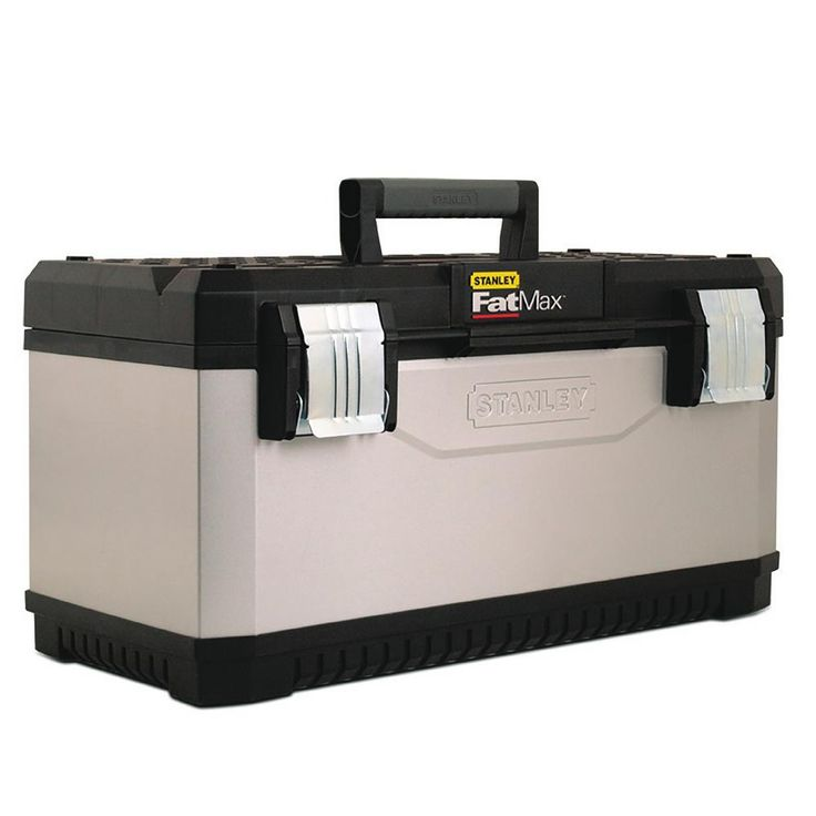 Stanley Fatmax 23 in. Metal and Plastic Tool Box, Silver