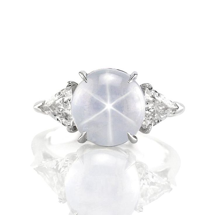 White Star Sapphire & Diamond ring!!  Would luv to see this in person!!