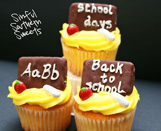 Sinful Southern Sweets: Back to School Cupcakes