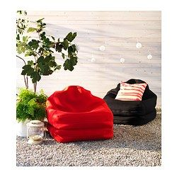 IKEA - RISÖ, Beanbag, in/outdoor, black, , You can use this beanbag in different ways. Fold it into an upright easy chair, or unfold it into a low lounger.