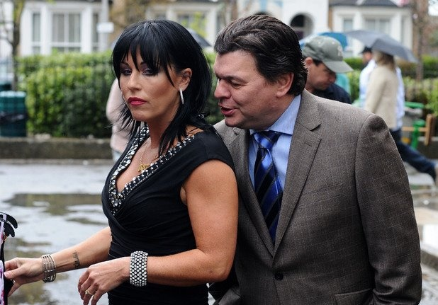 Kat Moon and Derek Branning played by Jessica Wallace and Jamie Foreman.